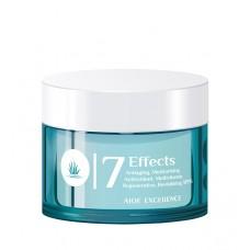 Aloe Excellence - 7 Effects Cream Antiaging Moisturing Antifalten-Feuchtigkeitscreme Aloe Vera 50ml Dose hergestellt auf Gran Canaria - LAGERWARE