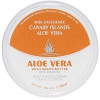 Aloe Excellence - Aloe Vera With Karite Butter Nourishing Creme 50ml Dose hergestellt auf Gran Canaria - LAGERWARE