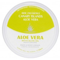 Aloe Excellence - Aloe Vera With Olive Oil Moisturing Creme 50ml Dose hergestellt auf Gran Canaria - LAGERWARE