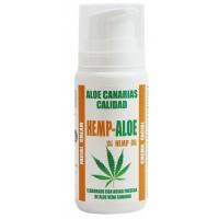 Aloe Canarias Calidad - Hemp-Aloe Hanf-Aloe Vera Körpercreme 100ml Spenderflasche hergestellt auf Teneriffa - LAGERWARE