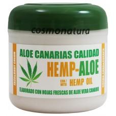 Aloe Canarias Calidad - Hemp-Aloe Hanf-Aloe Vera Körpercreme 300ml Dose hergestellt auf Teneriffa - LAGERWARE