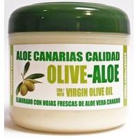 Aloe Canarias Calidad - Olive-Aloe Crema Cara Y Cuerpo Con Aceite de Oliva Y Aloe Vera Körpercreme 300ml Dose hergestellt auf Teneriffa - LAGERWARE