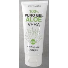 Dermetiks - 100% Puro Gel Aloe Vera Ecologico Bio Gel 100ml Tube hergestellt auf Gran Canaria - LAGERWARE