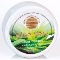 Sublime Canarias - Aloe Vera Manos y Cuerpo Hand- & Körpercreme 200ml Dose hergestellt auf Gran Canaria - LAGERWARE