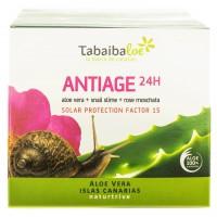 Tabaibaloe - Antiedad 24H Antiage Feuchtigkeits-Gesichtscreme Sonnenschutz SPF15 100ml hergestellt auf Teneriffa - LAGERWARE