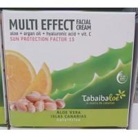 Tabaibaloe - Multi Effect Facial Cream SPF15 Aloe Vera Gesichtscreme Sonnenschutz 100ml hergestellt auf Teneriffa - LAGERWARE