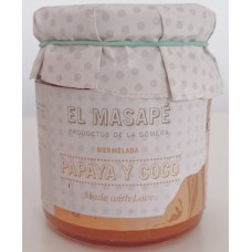 El Masapè - Mermelada Papaya y Coco 68% Fruta Papaya-Kokos-Marmelade 290g hergestellt auf La Gomera - LAGERWARE