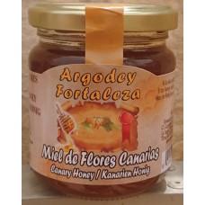 Argodey Fortaleza - Miel de Flores Canarias kanarischer Bienenhonig 200g hergestellt auf Teneriffa - LAGERWARE