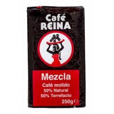 Cafe Reina - Mezcla Molido 50% Tueste Natural 50% Torrefacto Röstkaffee gemahlen 250g hergestellt auf Teneriffa - LAGERWARE