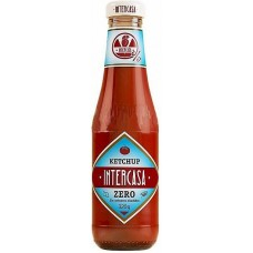 Intercasa - Ketchup Zero sin azucar anadidos ohne Zuckerzusatz Glasflasche 320g hergestellt auf Gran Canaria - LAGERWARE