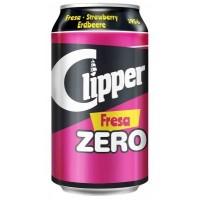 Clipper - Fresa Zero Erdbeer-Limonade zuckerfrei 8x 330ml Dose hergestellt auf Gran Canaria - LAGERWARE