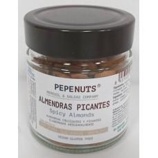 Pepeoil - Pepenuts Almendras Picantes gewürzte Mandeln 250g Glas hergestellt auf Gran Canaria - LAGERWARE