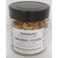 Pepeoil - Pepenuts Anacardos Picantes gewürzte Akajounüsse 125g Glas hergestellt auf Gran Canaria - LAGERWARE
