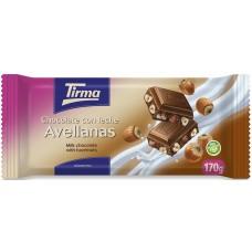 Tirma - Chocolate con Leche Avellanas Vollmilchschokolade Haselnuss 170g hergestellt auf Gran Canaria - LAGERWARE