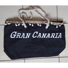Dulcinea Heredia Strandtasche Gran Canaria schwarz mit weißem Aufdruck 50x15x35cm HX22007-60 Polyester - LAGERWARE
