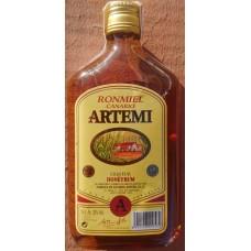 Artemi - Ronmiel Canario Ron Miel Honigrum 350ml 20% Vol. flache Glasflasche hergestellt auf Gran Canaria - LAGERWARE