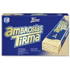 Tirma - Ambrosias Blanco white Chocolate Waffelriegel weiße Schokolade 14 Stück 301g hergestellt auf Gran Canaria - LAGERWARE