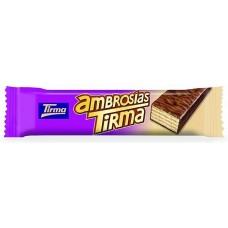 Tirma - Ambrosias Tradicional Chocolate Waffelriegel mit Schokoladenüberzug 21,5g Einzelriegel hergestellt auf Gran Canaria - LAGERWARE