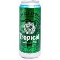 Tropical - Cerveza Pilsen Bier 4,7% Vol. 6x 500ml Dose hergestellt auf Gran Canaria - LAGERWARE