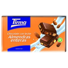 Tirma - Chocolate con Leche Almendras enteras Nussschokolade 150g hergestellt auf Gran Canaria - LAGERWARE