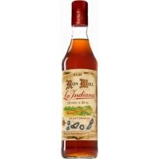 Ron La Indiana - Ron Miel Honey & Rum Honigrum Licor Islas Canarias 20% Vol. 1l hergestellt auf Gran Canaria - LAGERWARE