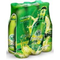 Tropical - Limon Cerveza Bier Radler 2,0% Vol. 6x 250ml Glasflasche hergestellt auf Gran Canaria - LAGERWARE