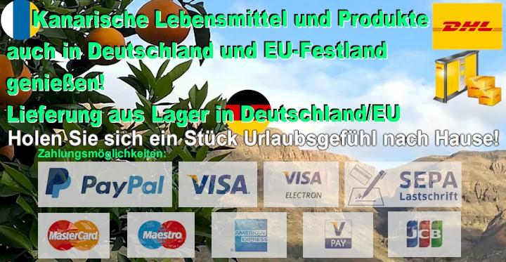 Kanarische Produkte in Deutschland online kaufen. Deutsches Lager.